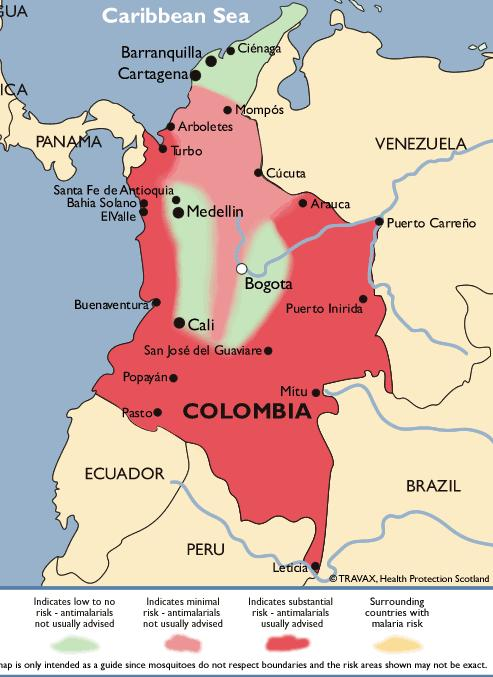 Colombia Map Map Of Colombia Safety FARC Issues - Colombia map